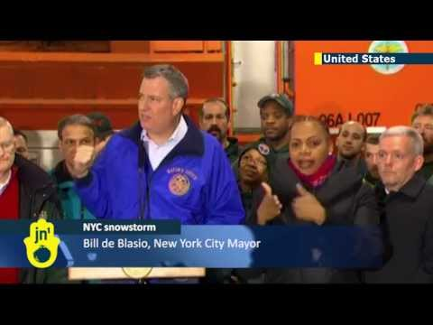 De Blasio's first test: New NYC mayor springs into action amid major snowstorm