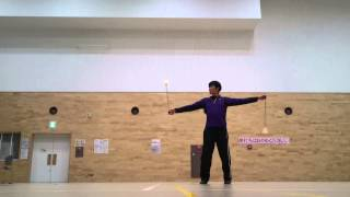 3/4 beats practice method of 4 petals anti-spin flower turn