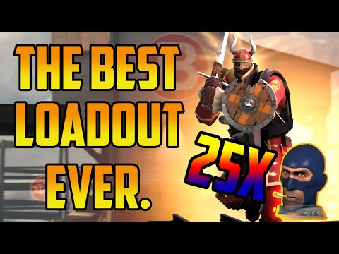 The Best Loadout In TF2!? Beyond Godlike! 25 Heads!