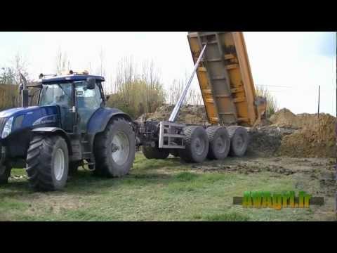 FENDT 936 NH Blue power et deutz : 7 tracteurs et bennes 3 essieux au TP