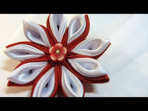 Ободок с цветком из ткани своими руками
