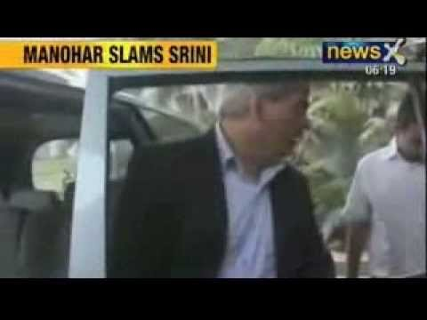 NewsX : Shashank Manohar blames Srinivasan for his part in ongoing IPL corruption scandal