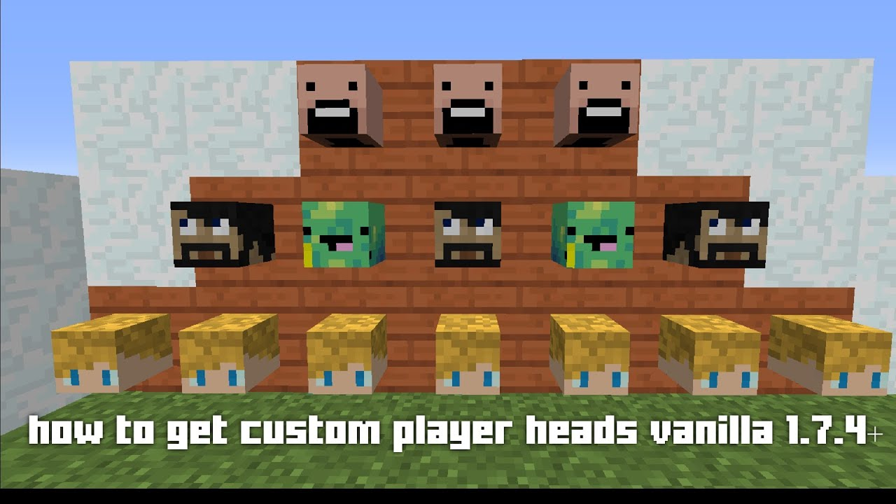 how to get playerheads in minecraft