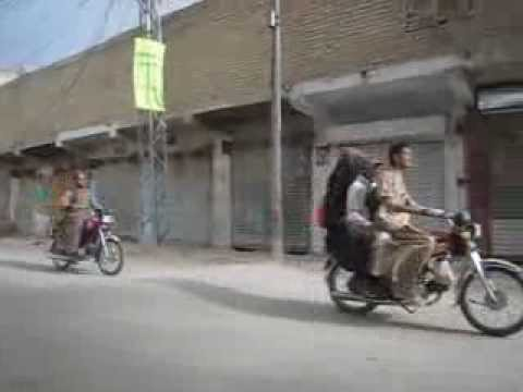 Quetta Pakistan Motorcycle Drive by