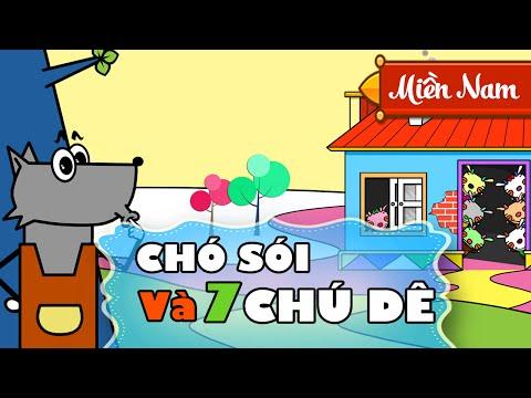 Chó Sói và Bảy Chú Dê Con | Truyện Cổ Tích Cho Bé | Giọng Miền Nam [FULL HD 1080p]