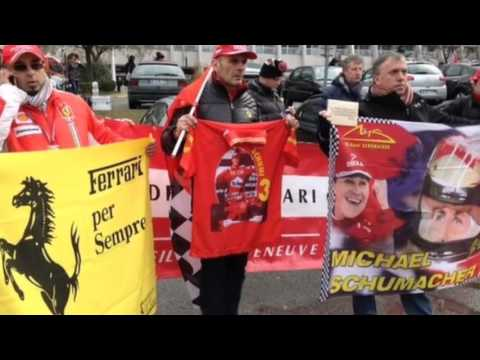 Fans Hold Birthday Vigil For Schumacher Outside Of Hospital