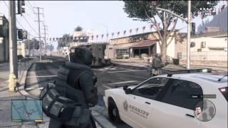 GTA 5 HEIST GAMEPLAY ROBBING A BANK! BEST MISSION SO FAR