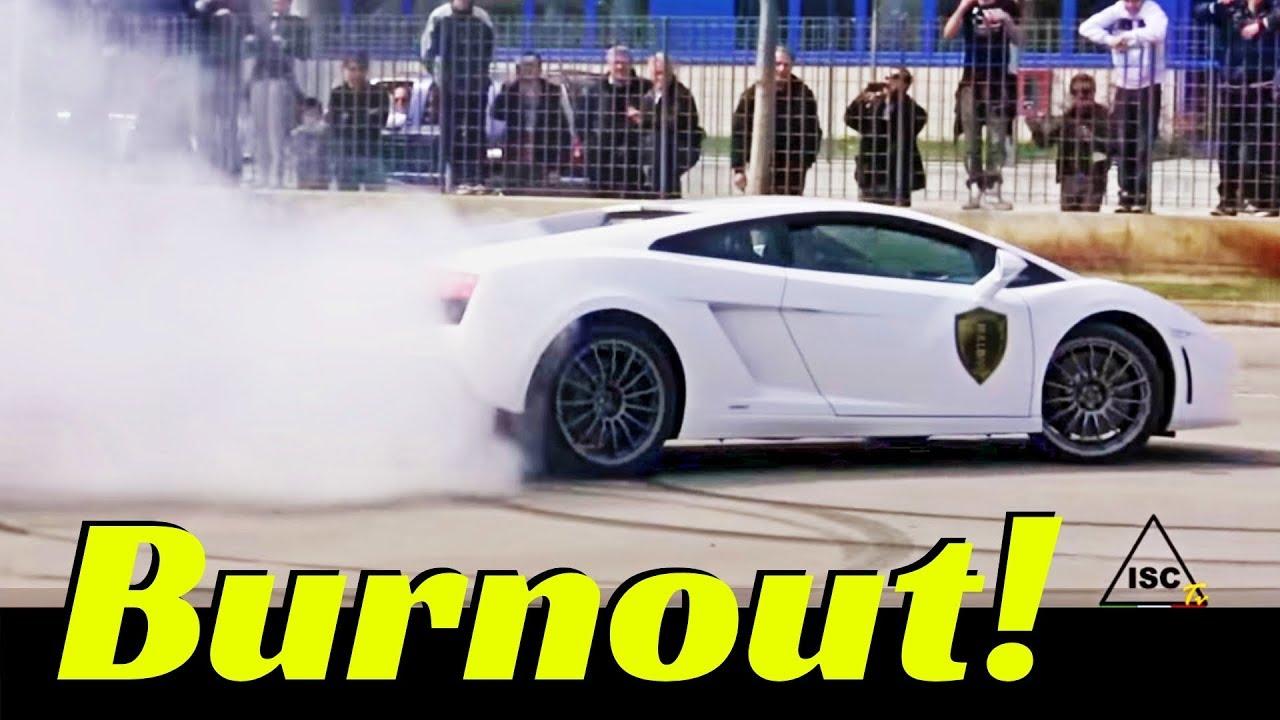 burnout show ferrari 458 italia amp lamborghini lp 5502