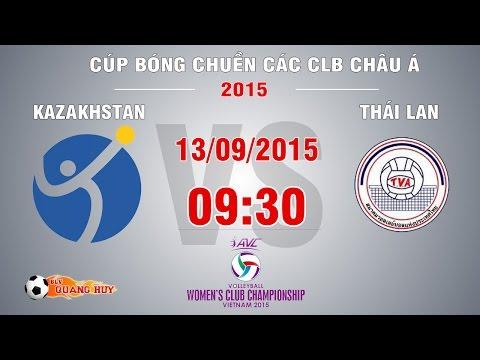 Kazahkstan vs Thái Lan - Cúp bóng chuyền Châu Á 2015 | FULL