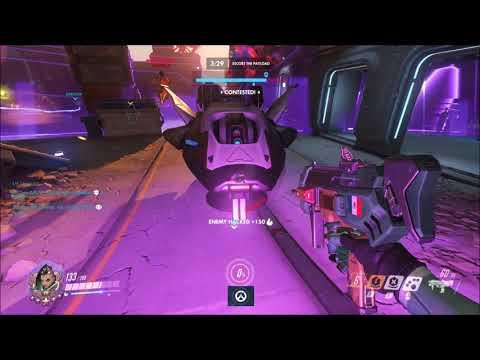 Overwatch - Sombra Team Kill Ult Combo w/ Mcree