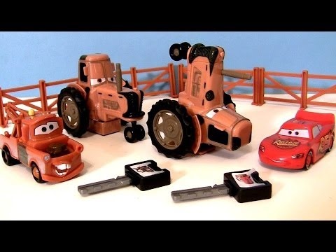 Cars Tractor Tipping Playset With Mater Lightning Mcqueen