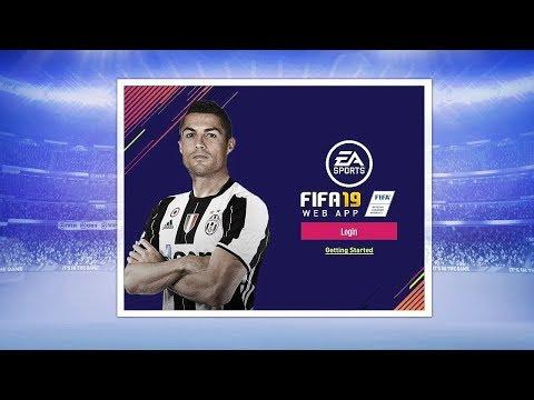 FIFA 19 WEB APP!