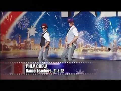Phly Crew - Dance Duo -  Australia's Got Talent 2012 audition 7 [FULL]