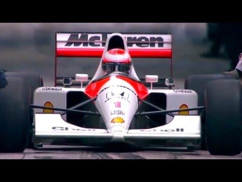 Jenson Button drives Senna's McLaren MP4/6