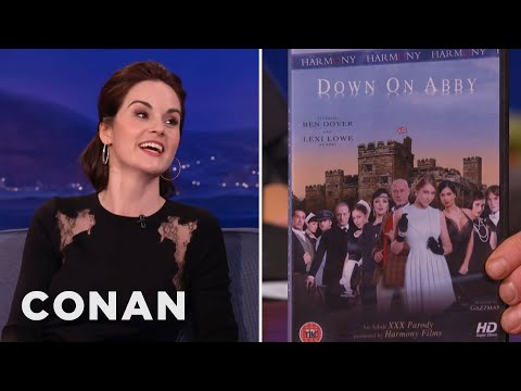 "Michelle Dockery On ""Downton Abbey's"" Porn Parody"