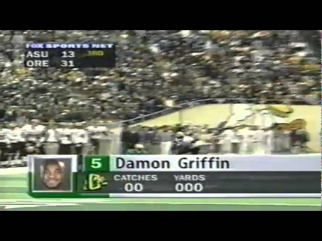 Oregon WR Damon Griffin 13 yard reception vs. ASU 11-14-1998