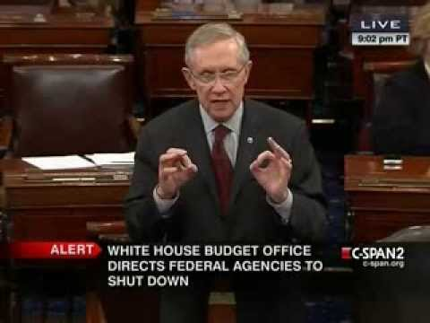 Harry Reid Goes Off on GOP for Causing Shutdown: 'Embarrassing' Tea Party 'Anarchists' Run the Show