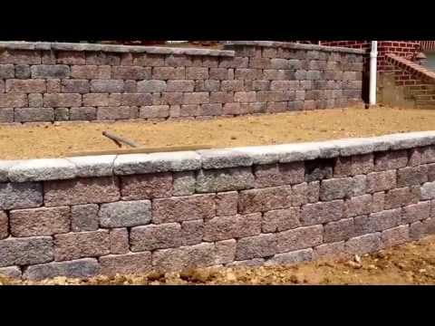 Retaining Wall Installation in Thornhill Development in Hanover, Pa: Ryan's Landscaping