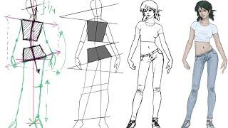 Dibujar la figura femenina con una postura