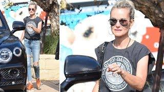 EXCLUSIVE - Laeticia Hallyday Enjoying An Afternoon At Soho In Malibu