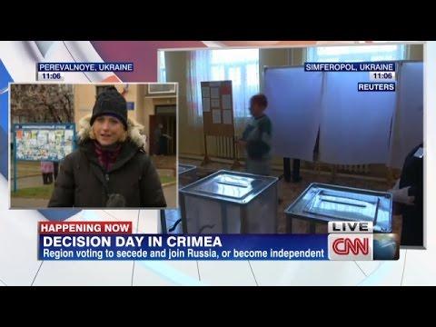 Voter Fraud in Crimea, Ukraine. CNN Filmed Stuffing Ballots on Camera!!! March 16, 2014