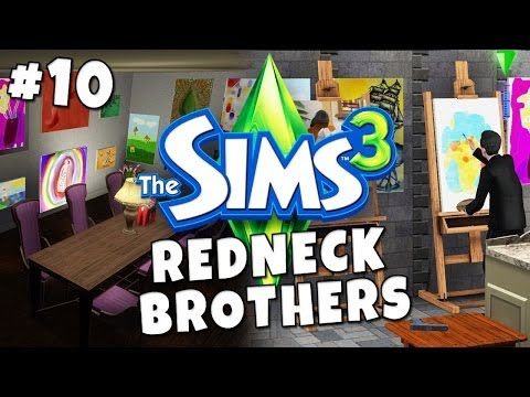 Sims 3 - Redneck Brothers #10 - Love, Death and Art