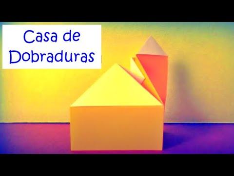 Como fazer uma Casa de Origami - Dobraduras de Papel