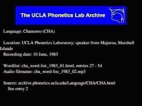 Chamorro audio: cha_word-list_1983_02