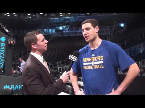 Golden State Warriors Klay Thompson on Brooklyn Nets Paul Pierce & Joe Johnson