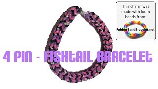 How To Make The 4 Pin Fishtail Loom Band Bracelet Using
