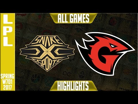 Snake Esports vs Game Talents Highlights All Games - LPL Spring 2017 W7D1 - SS vs GT All Games