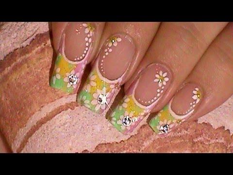 70's Vintage Wallflowers Inspired Nail Art Design Tutorial