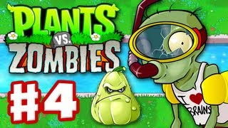 Plants Vs. Zombies Gameplay Walkthrough Part 4 World 3