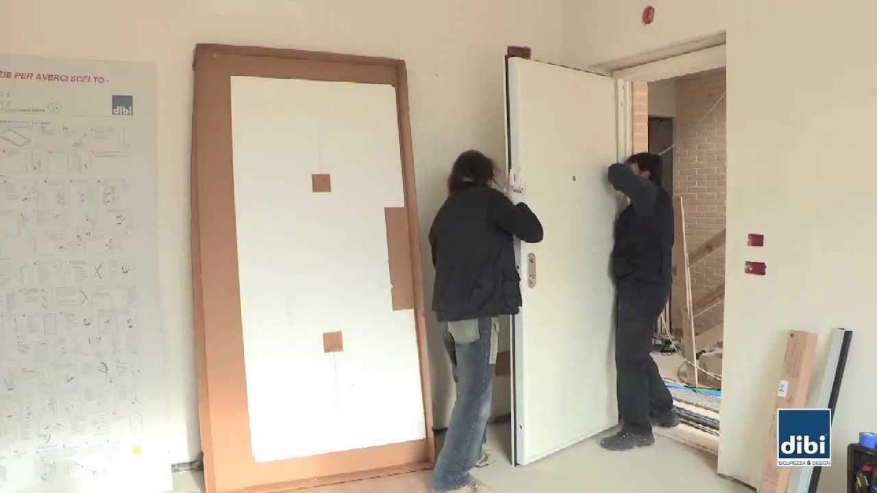 Montaggio anta su telaio di bi porte blindate youtube - Montare telaio porta ...