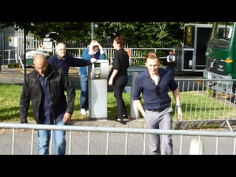 Tom Hiddleston on set of High Rise in Bangor July 7, 2014