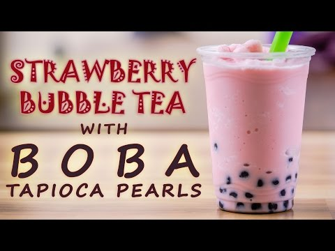How to Make a Strawberry Bubble Tea with Bubble Tea Supply Strawberry Flavor Powder