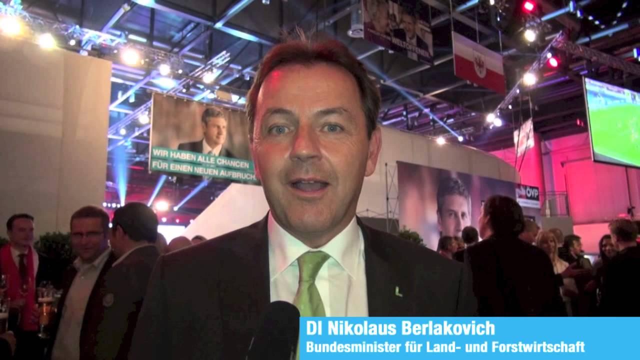 Landwirtschaftsminister Nikolaus Berlakovich über Angela Fichtinger