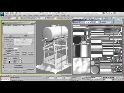 Rendering Ambient Occlusion with Mental Ray in 3ds Max - 3dmotive