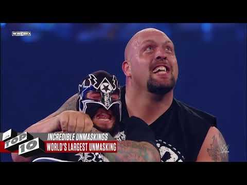 Top10 pha lột mặt nạ của các siêu sao WWE gây bất ngờ và sốc nhất WWE