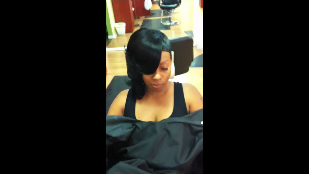 Layered Quick Weave Half Bob