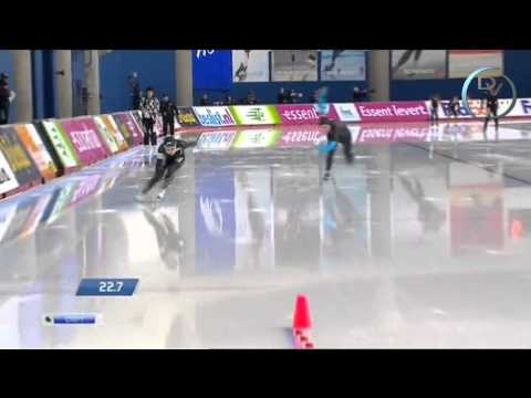 Miyako Sumiyoshi & Heather Richardson 500m, Calgary 2013, 2nd round