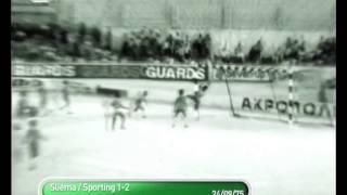Sliema (Malta) - 1 x Sporting - 2 de 1975/1976 Taça Uefa