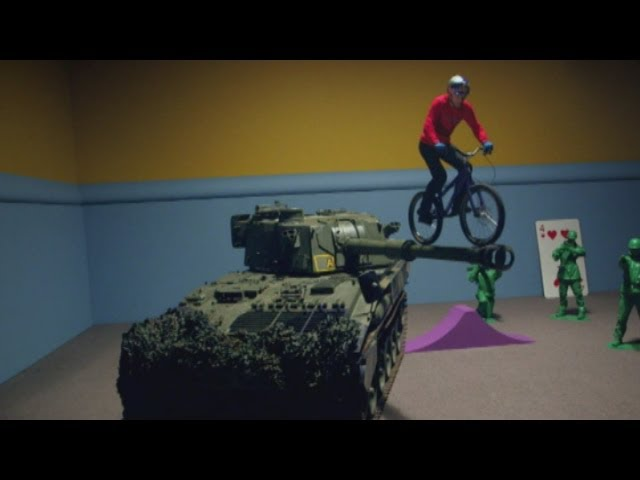 Danny MacAskill performs amazing bike stunts on giant toys in Imaginate film