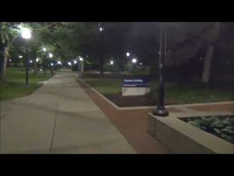 Walk through University of Michigan Diag at Night
