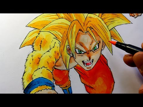 Dragonball Z Battle of Gods Wie zeichnet man Son Goku NEW SSJ