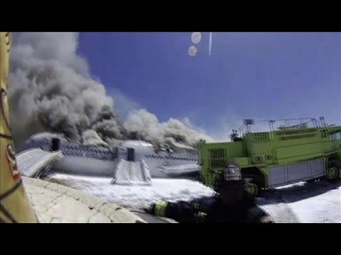 Asiana Rescue Video Shows Girl Killed by Fire Truck
