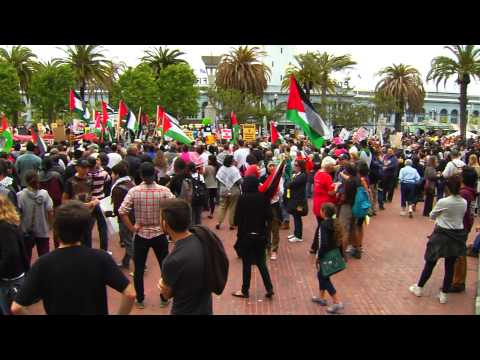 Arab Groups Protest In San Francisco To Honor Victims In Gaza Conflict 7-18-14