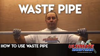 How to join Waste pipe