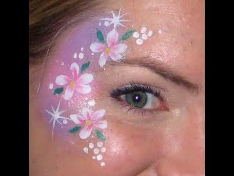 Fast Faces - Flower Cheek Art Face Painting