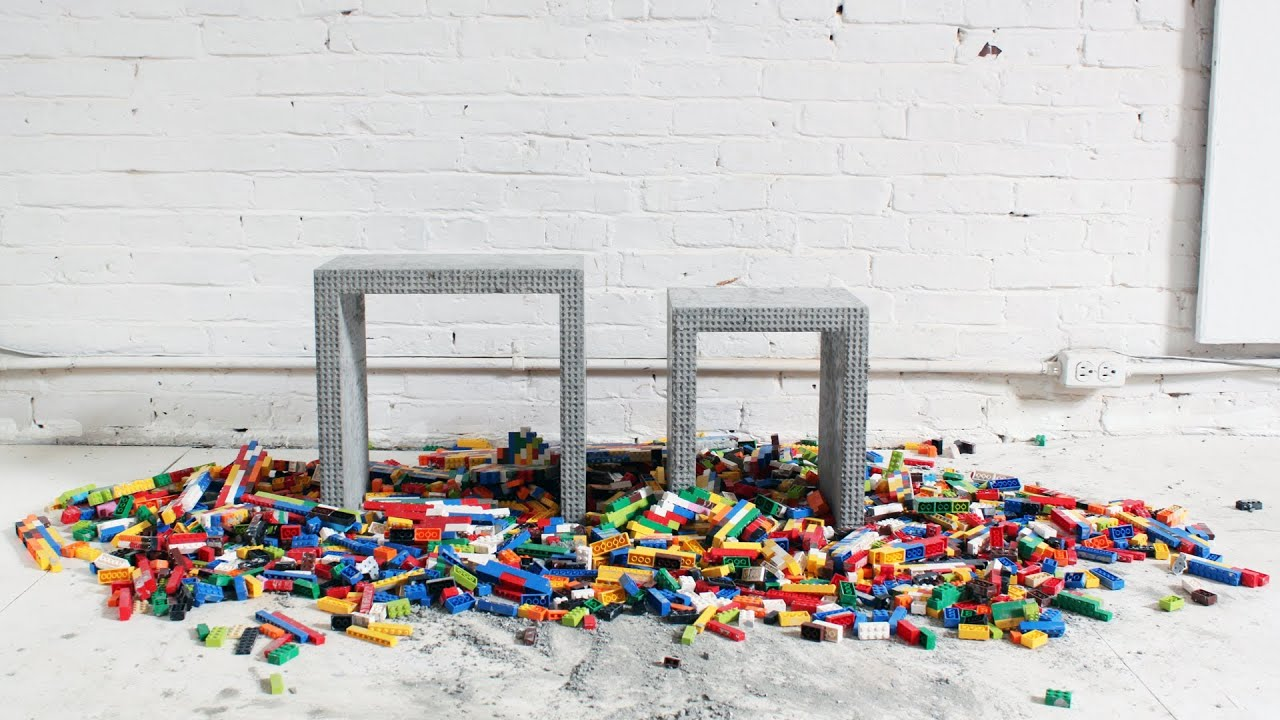 Wonderful image of How to Make DIY Concrete Nesting Tables with Legos   with #A76124 color and 1920x1080 pixels